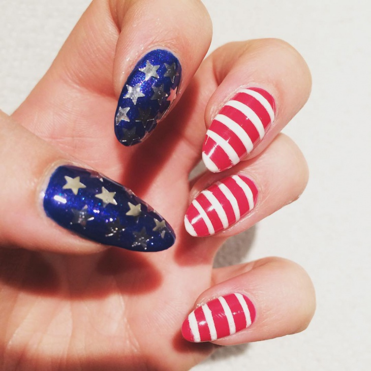 Fourth July Nail Art Design