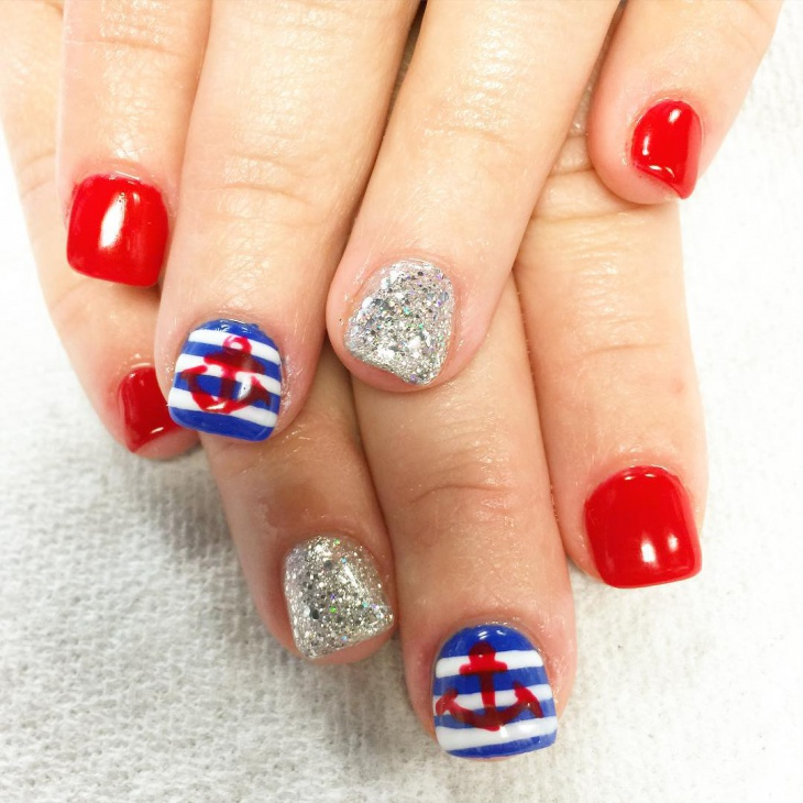 Cute Fourth of July Nail Art