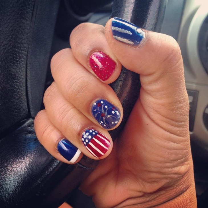 Patriotic Nail Art - 20+ Fourth Of July Nail Art Designs, Ideas Design Trends - Premium
