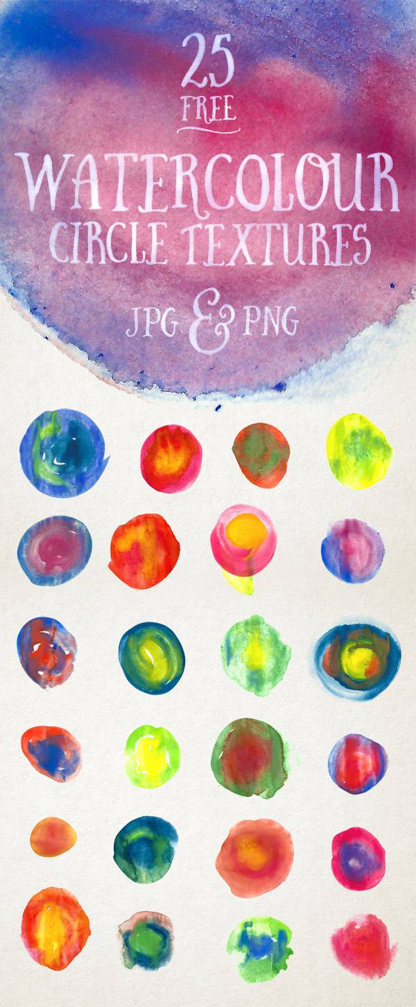 download 25 high res watercolor circle textures