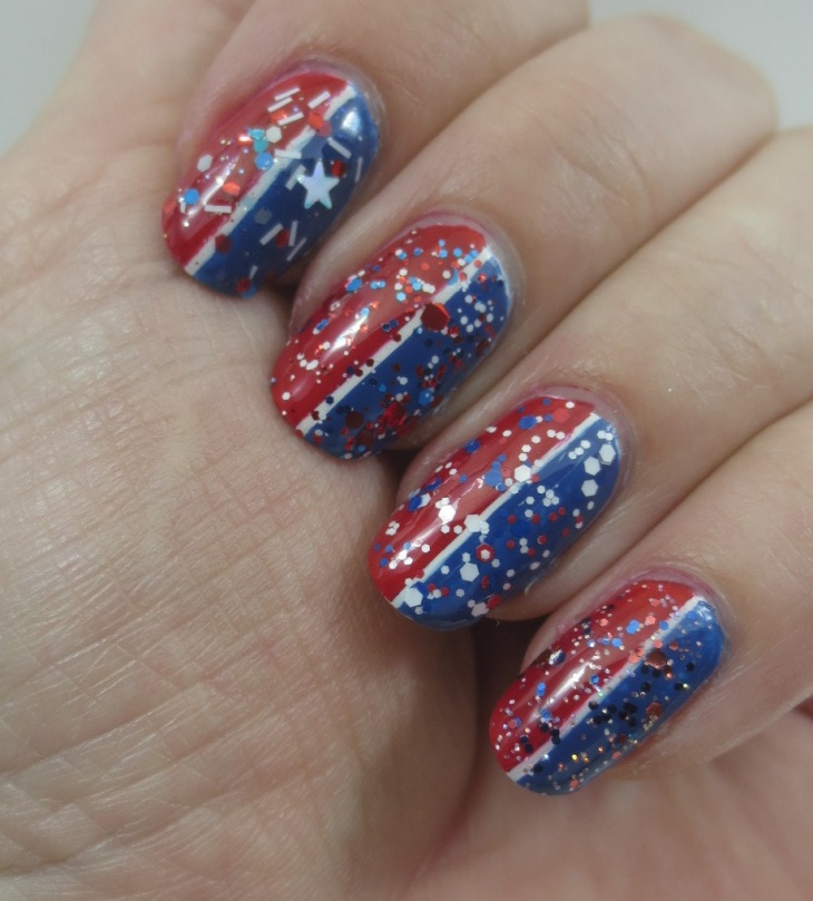 Glitter Fourth of July Nail Ideas