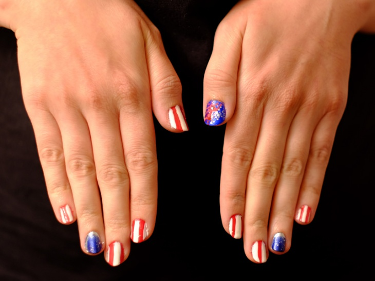 Amazing patriotic Nail Design