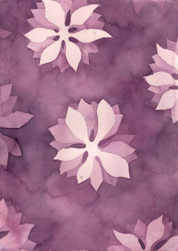 watercolor flower texture