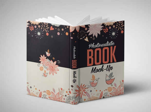 Colorful Book Cover Mockup