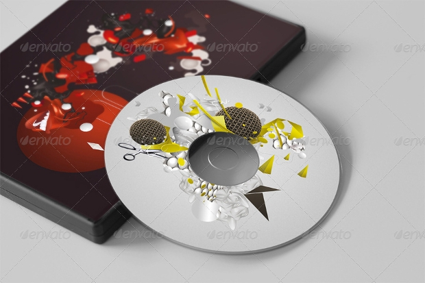 Elegant CD DVD Disc and Cover Mockups