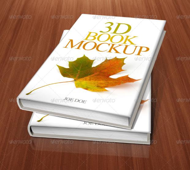 3d book cover mockup design