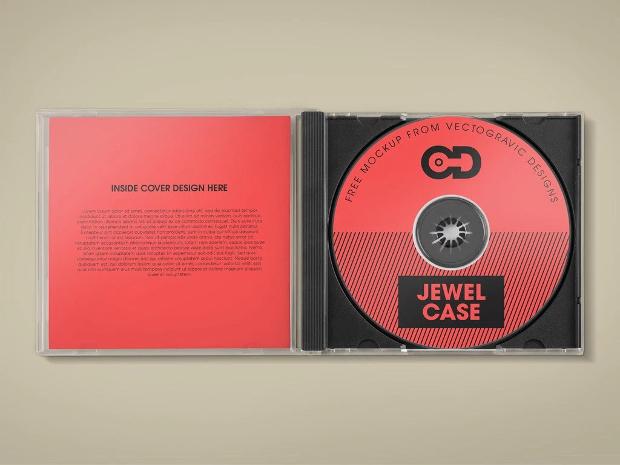 CD Jewel Case Mockup