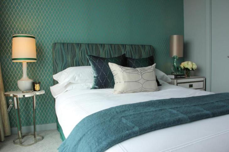 Midcentury Modern Glass Lamps in Bedroom