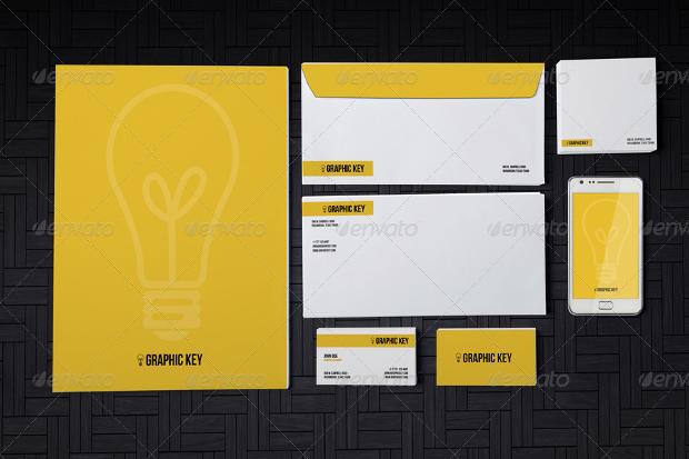 photorealistic branding stationery mockup