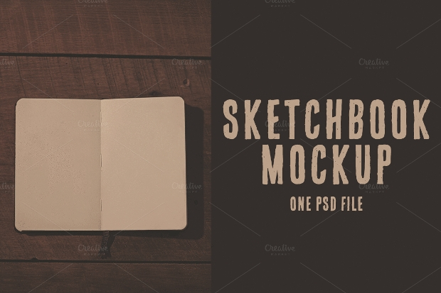 Simple Sketchbook Mockup