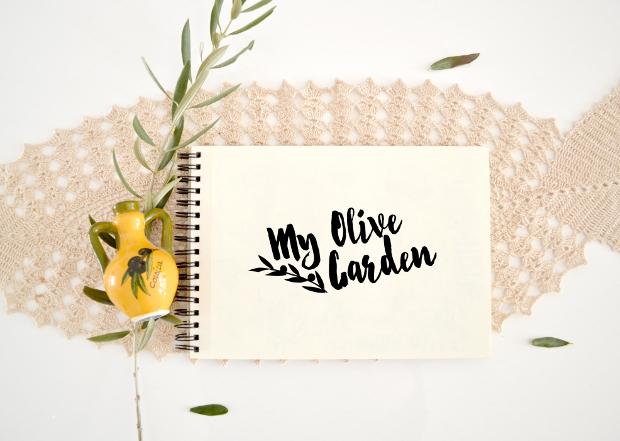 Olive Garden Sketchbook Mockup