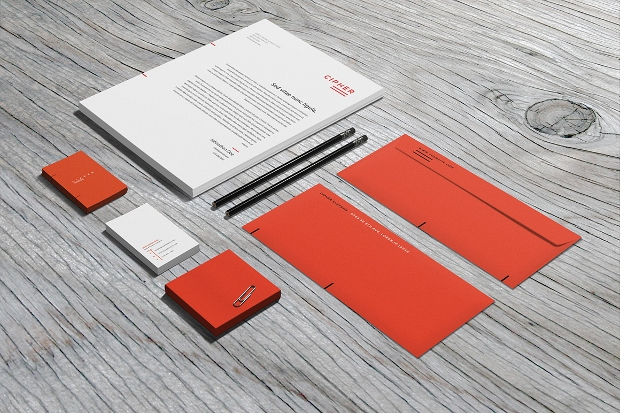 multi color stationary mockup