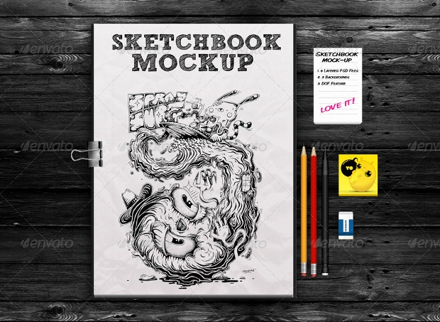 Elegant Sketchbook Mockup