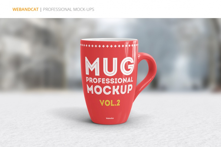 professional coffee mug mockup with smart layers