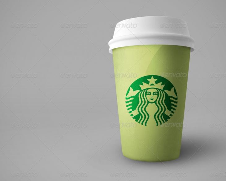 Realistic Coffee Cup MOckup PSD