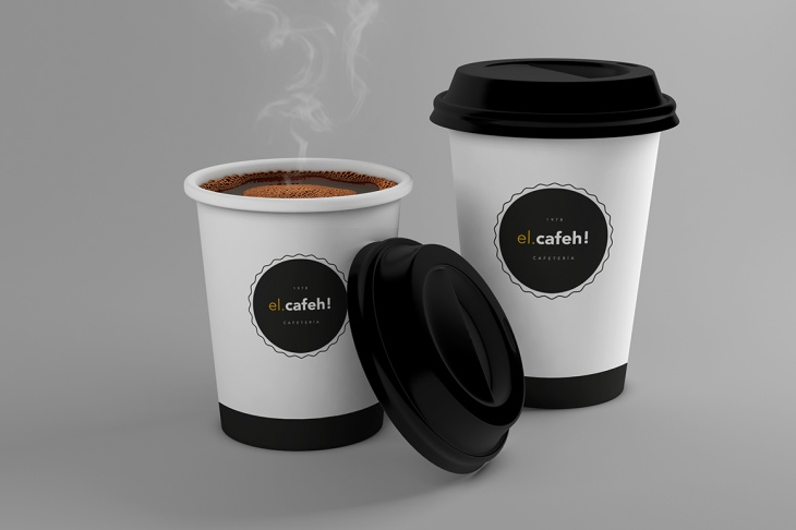 download editable layers coffee cup mockup