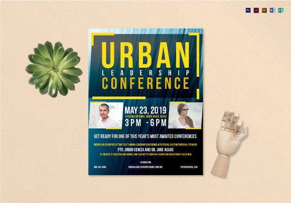Urban Conference Flyer Template to Print
