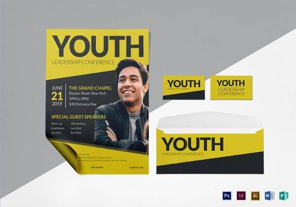 Young Leadership Conference Flyer in PSD