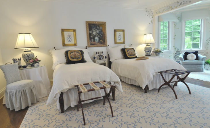 French Style Chateau Chic Bedroom Design