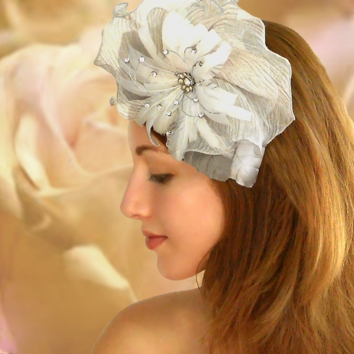 Vintage Wedding Hairstyle with Flowers