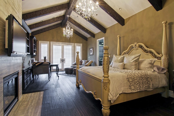 Chateau Chic Bedroom Design With Rich Furniture