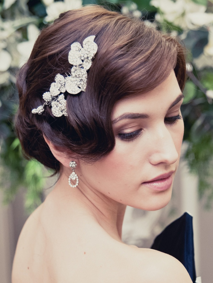 Cute Short Wedding Hair