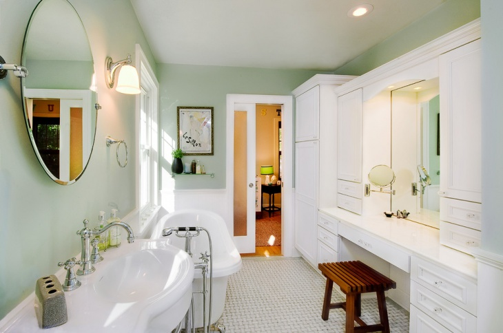 bathroom remodel design with victorian look