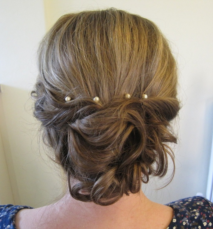 Vintage wedding Hair for Curly Hair
