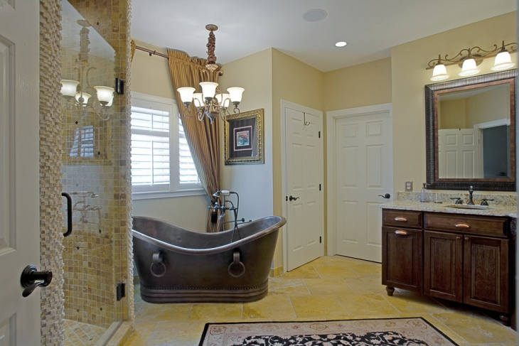 Traditional Bathroom with Rich Look Design