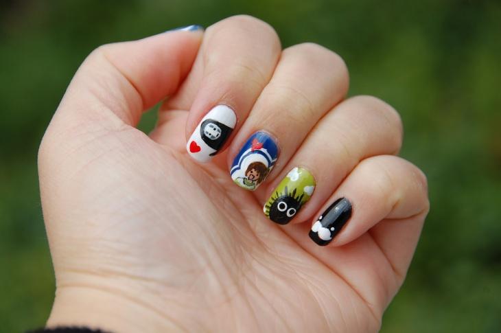 Miyazaki Cute Nail Design