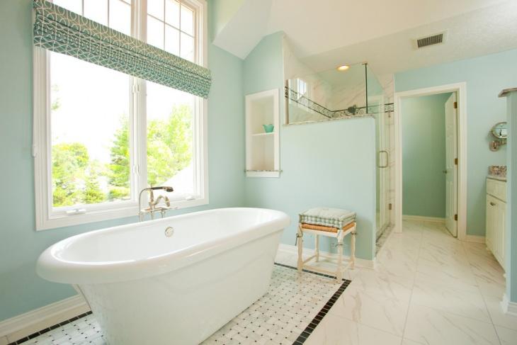 Gorgeous Blue Bathroom Design