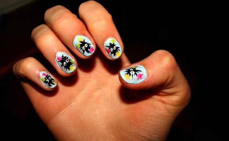 Stamping Miyazaki Nail Design