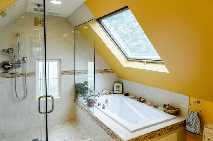 attic bathroom remodel design
