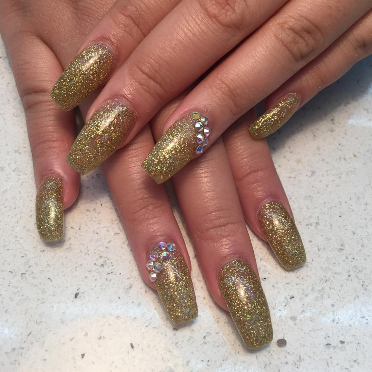 20 Gold Glitter Nail Polish Designs Ideas Design Trends