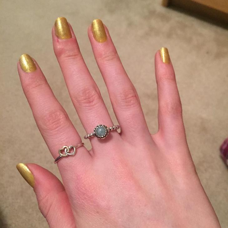 glod glitter nail ideas