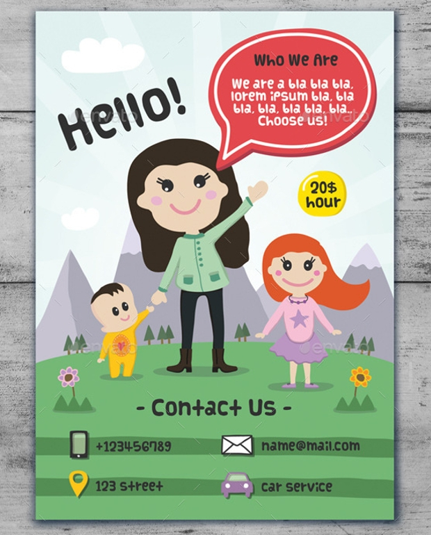 14 Babysitting Flyer Designs Psd Download Design