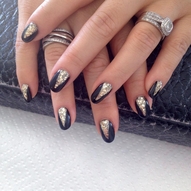 easy gold nail design
