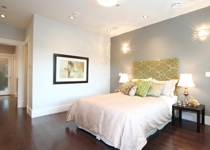 contemporary bedroom accent wall design