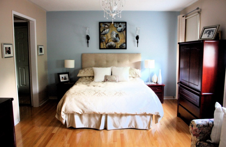 Awesome Bedroom with Blue Accent Wall