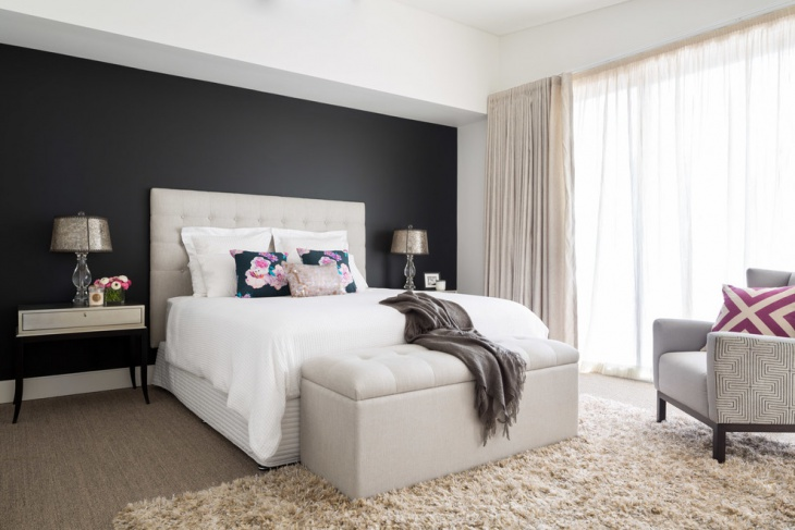 Superbe Black Accent Wall Bedroom Design