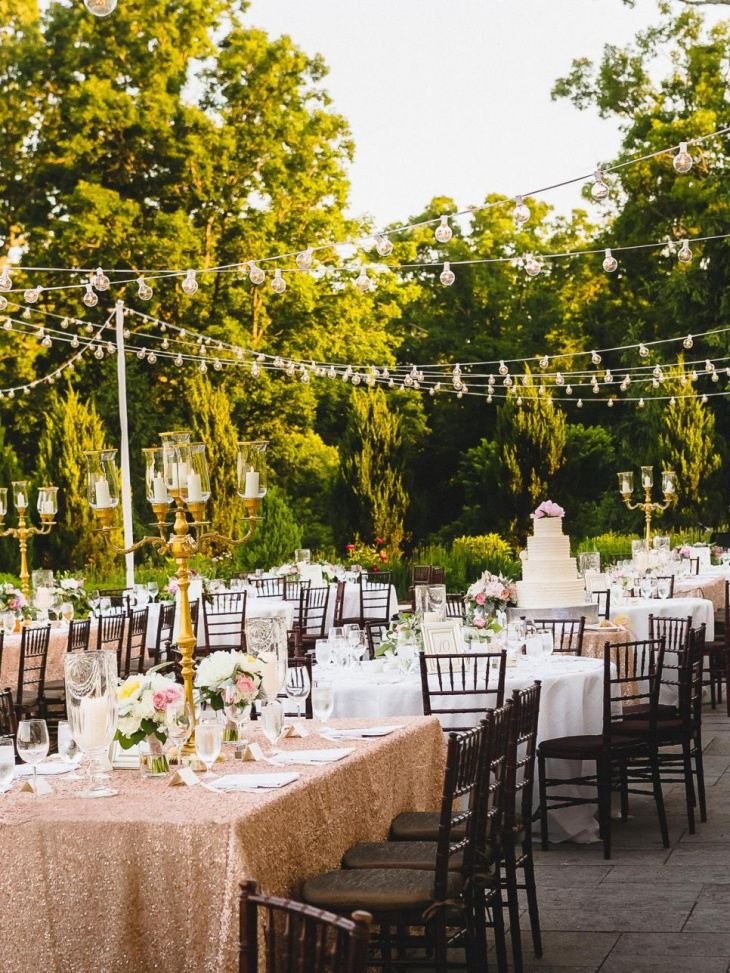 Bistro Wedding Lights Design