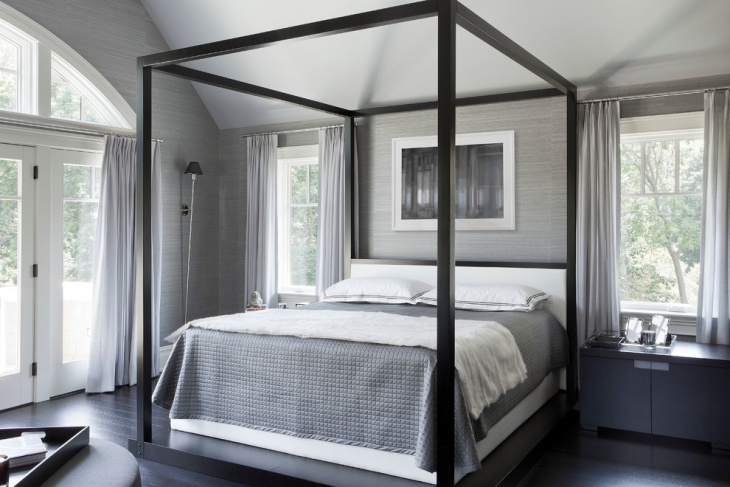 Gray Accent Wall Paint for Vintage Style Bedroom