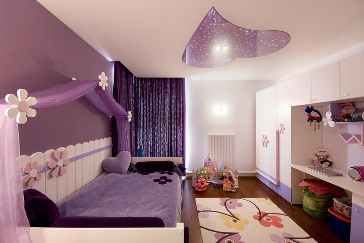 Lovely Accent Wall Design for Girls Bedroom