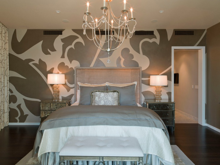 Lavish Bedroom with Accent Wall Art