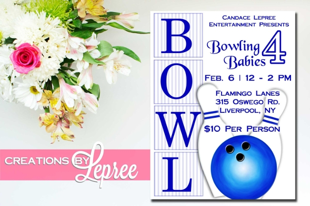 retro inspired bowling flyer