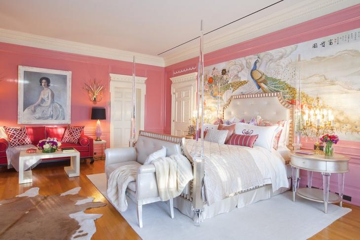 Girls Victorian Look Bedroom Design