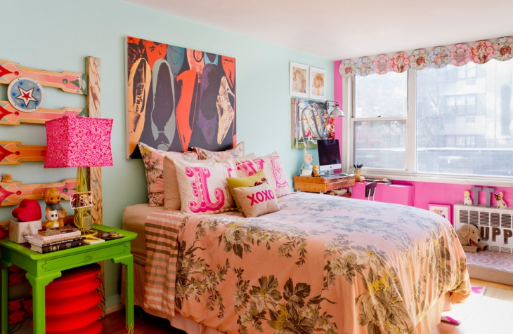 Pretty Pink Girls Bedroom Design Idea