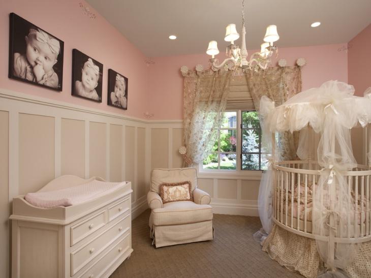 Pink Color Bedroom Design for Babies