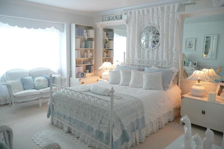 Bright White Adorable Bedroom Design