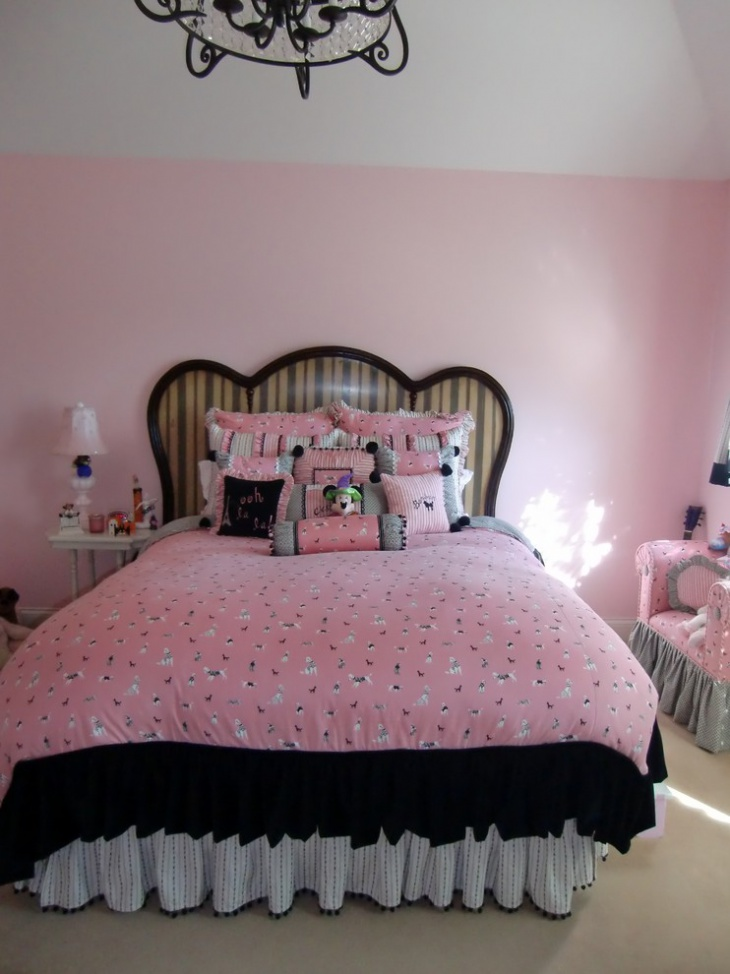 21 adorable bedroom designs decorating ideas design for Girls bedroom ideas pink and black